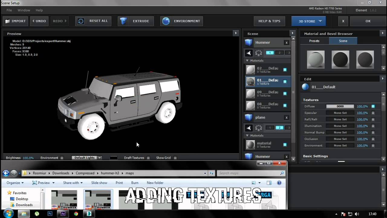 How to import obj 3d models into after effects youtube for Habitacion 3d after effects