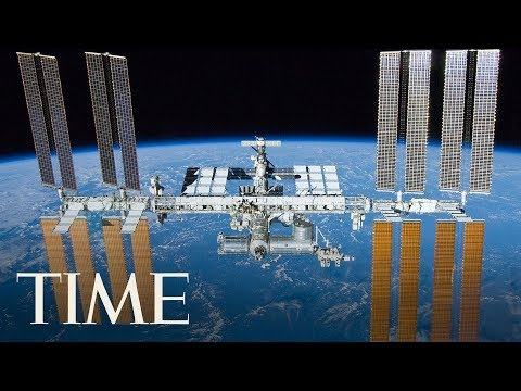 Russian Spacewalk Outside Of The International Space Station