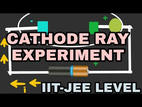 CATHODE RAY EXPERIMENT.कैथोड रे प्रयोग. JEE LEVEL. (HINDI / ENGLISH)