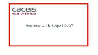 UK Pension Schemes : How Important is Scope 3 Data? CACEIS 2021