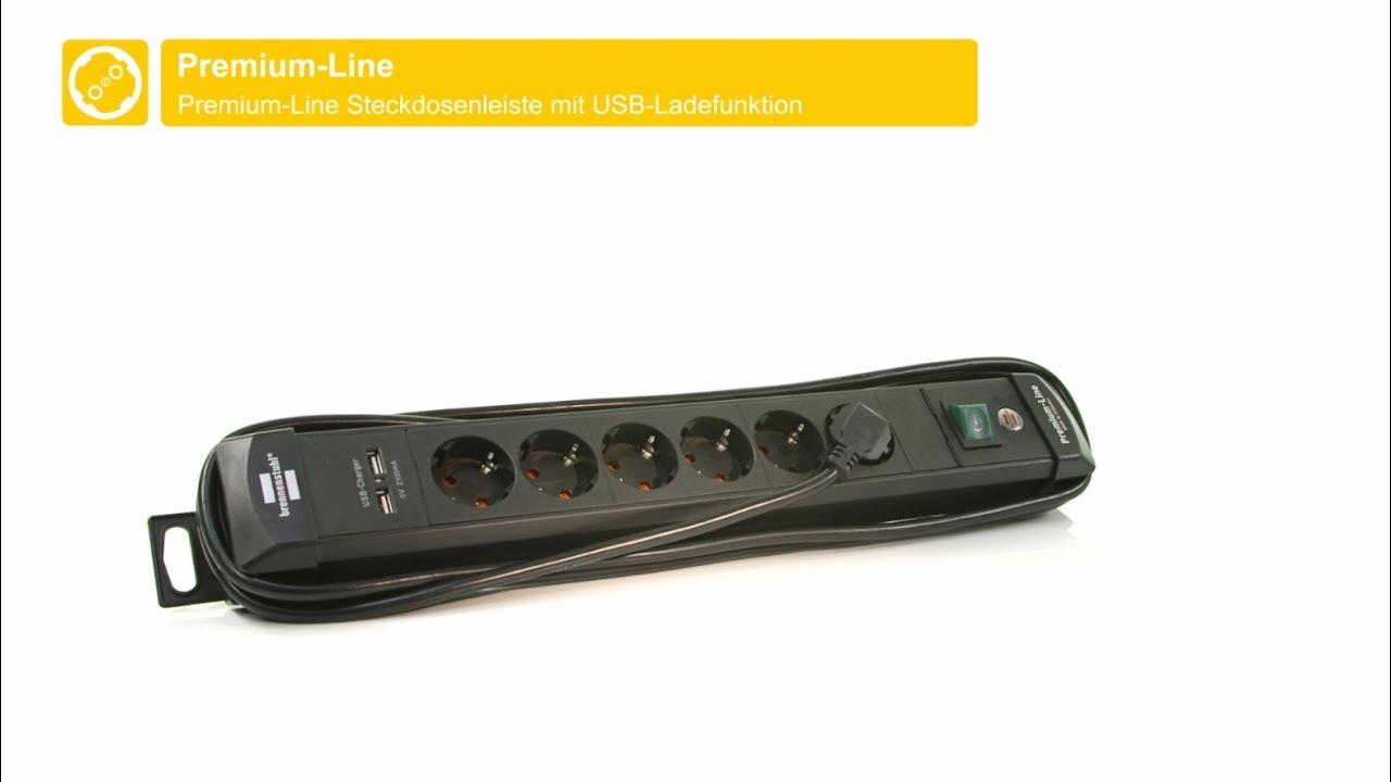brennenstuhl® premium-line steckdosenleiste mit usb-ladefunktion