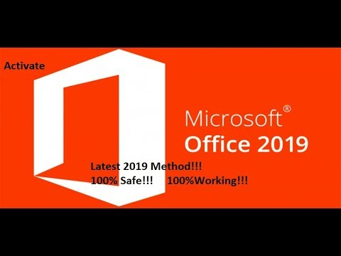 Permanently Activate Microsoft Office 2019 Easy Latest Method 2019 working  100%