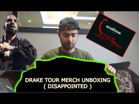 DRAKE TOUR MERCH REVIEW AND UNBOXING!!! SCORPION MERCH
