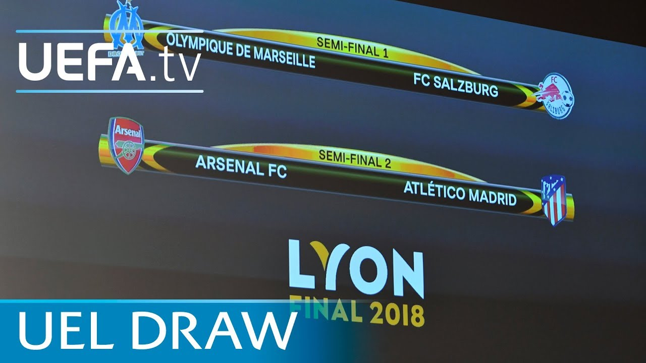Uefa Europa League 2017 18 Semi Final Draw In Full Youtube