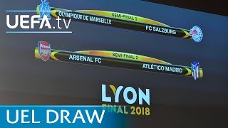 UEFA Europa League 2017/18 semi-final draw in full