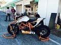 KTM 690DUKE R Running in SUGO international raceway