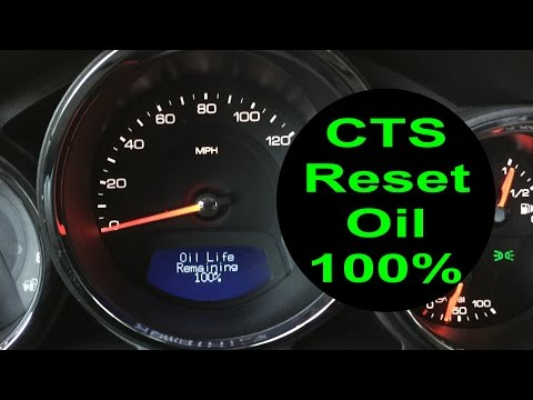 Reset Oil Life Cadillac CTS 2008 - 2013 change oil 100% reminder how to turn off oil indicator