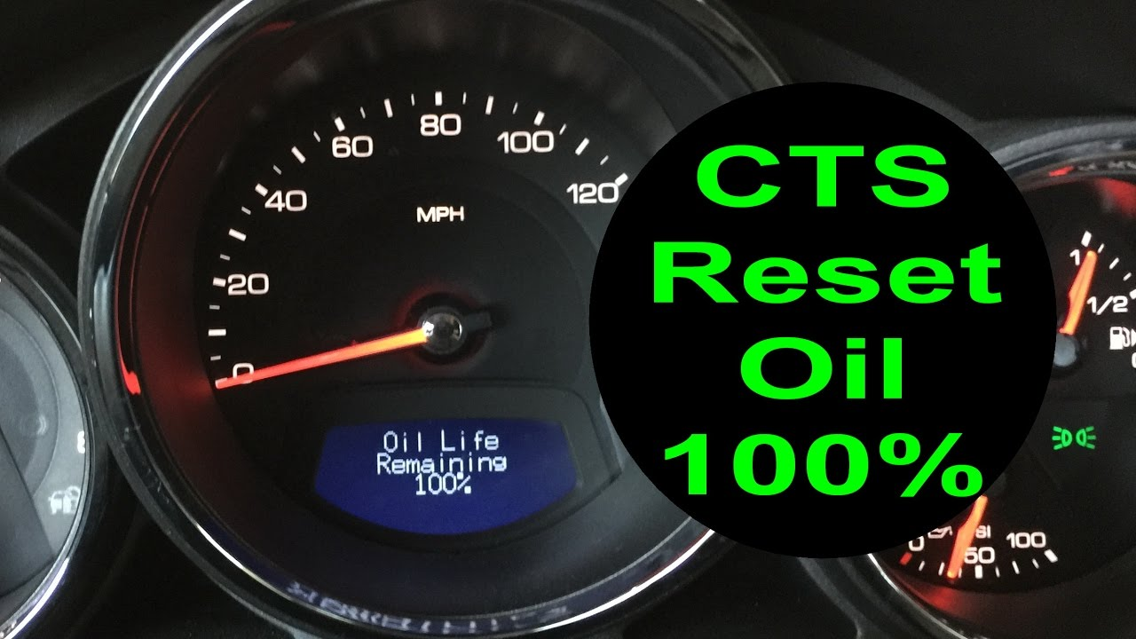 reset oil life cadillac cts 2008 2013 change oil 100. Black Bedroom Furniture Sets. Home Design Ideas