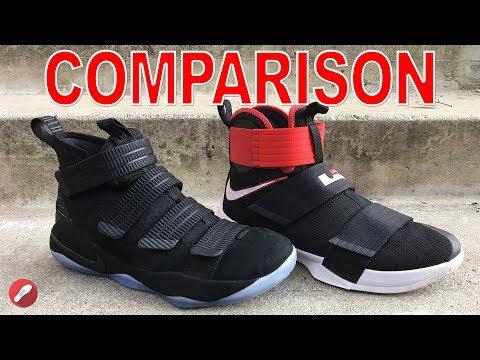 Nike Lebron Soldier 11 & Lebron Soldier 10 Comparison!
