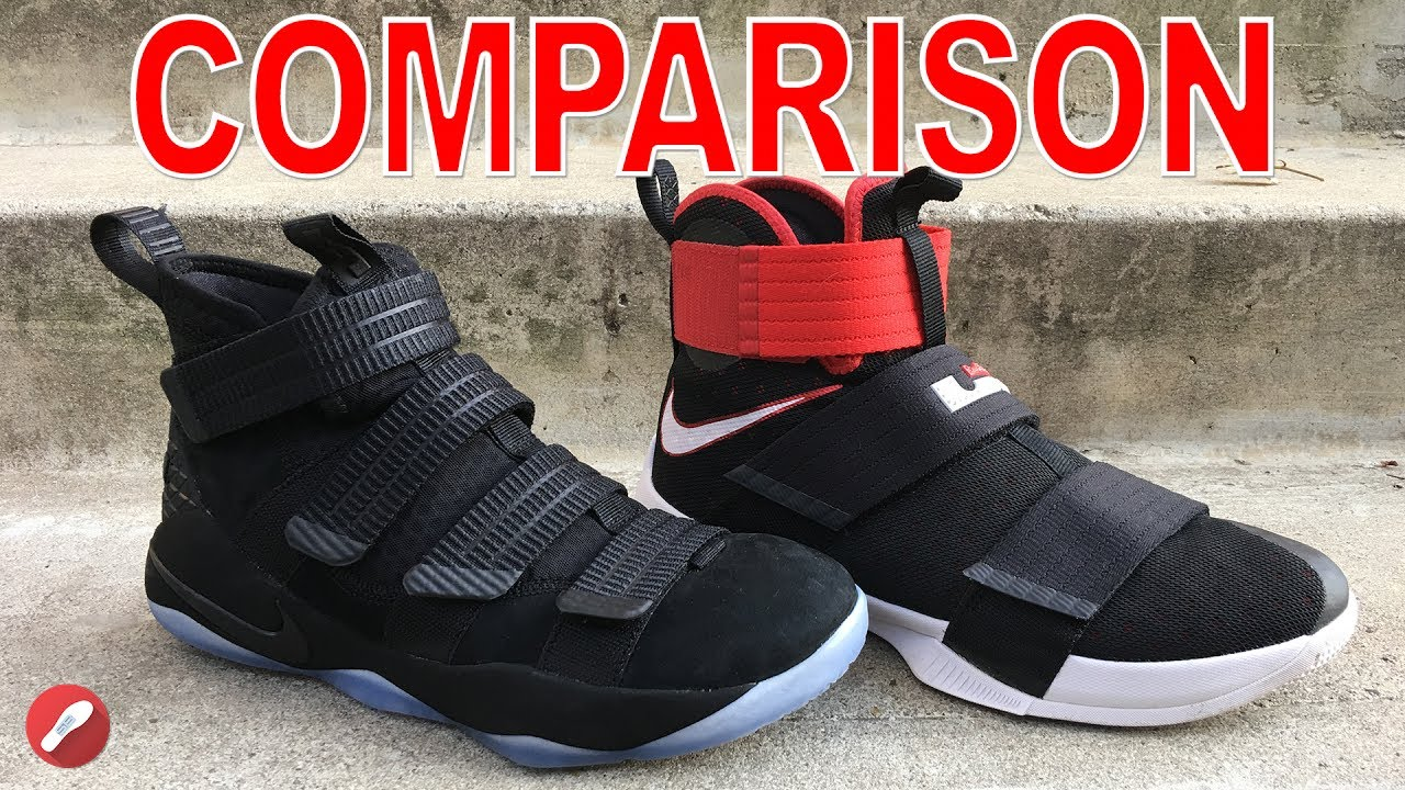 the latest c4e65 7120e Nike Lebron Soldier 11   Lebron Soldier 10 Comparison!
