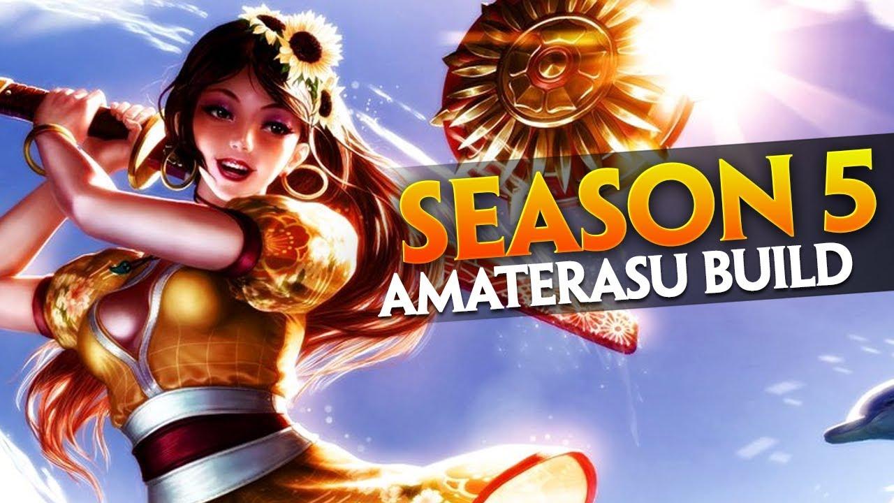Smite Amaterasu Build Season 5 Gameplay Youtube