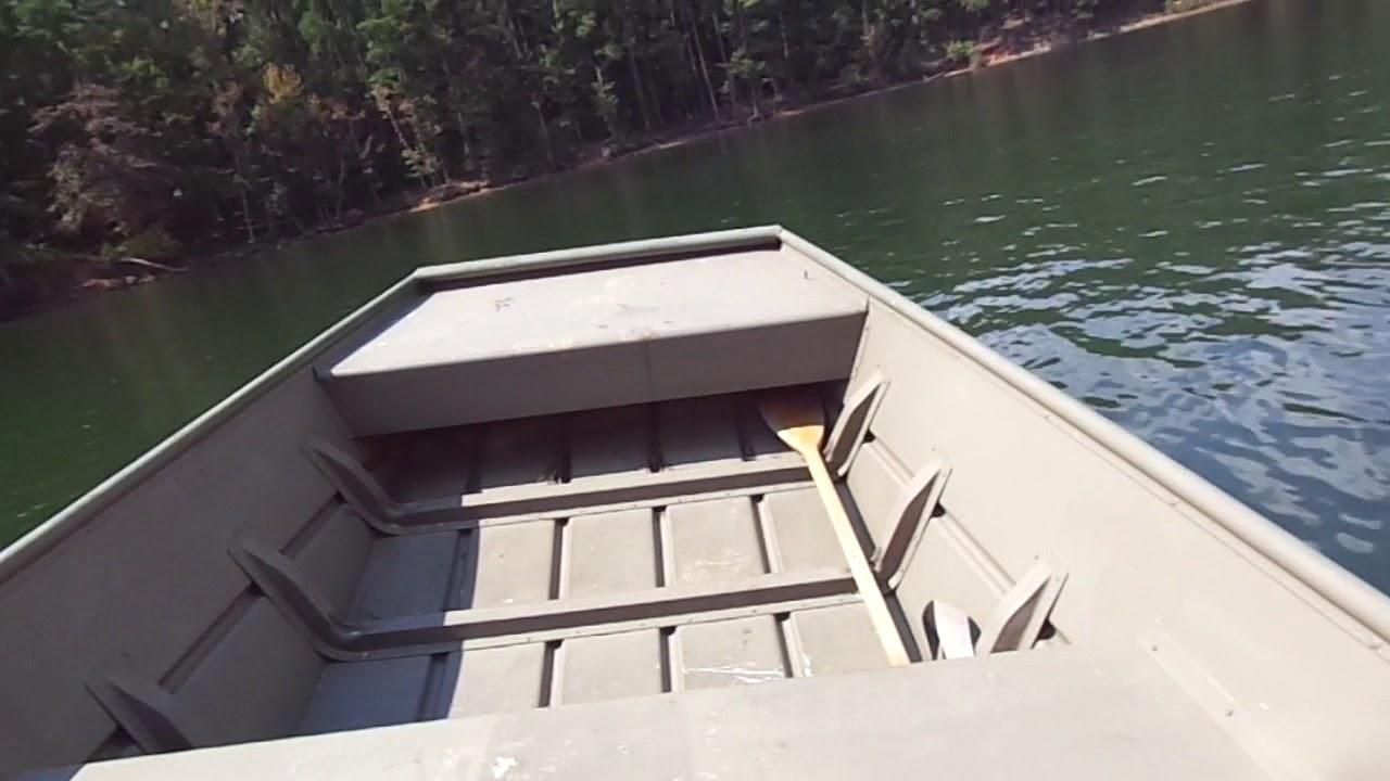 Lake test of Mercury 25 HP on 1442 Jon boat