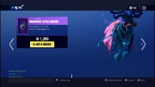 (NEW) FORTNITE KRAMPUS SKIN GLIDER AND PICKAXE IN SHOP