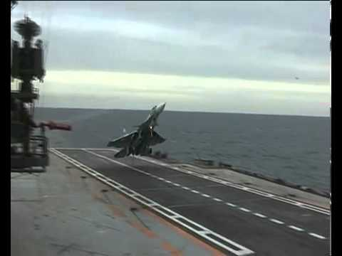 Su-33 Missed Landing On A Russian Aircraft Carrier