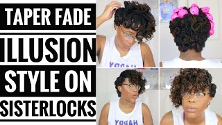 "Howto: Style Sisterlocks with the Illusion of ""Short Sides""- Using Silicone Magic Rollers!"