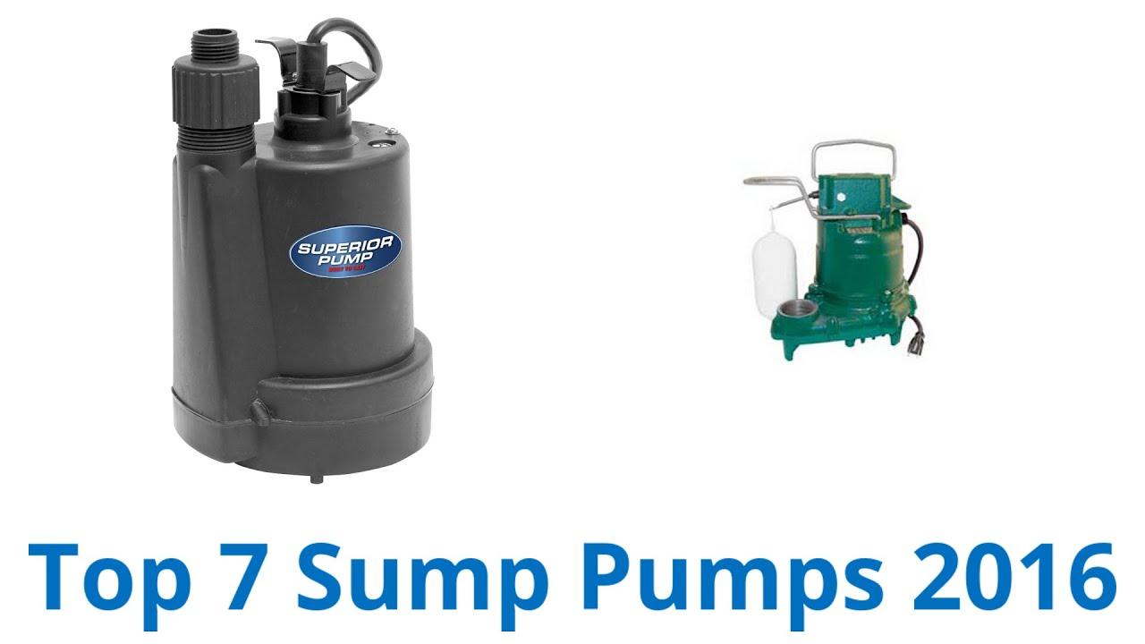7 best sump pumps