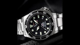 오리엔트 파워리저브 게이지 다이버 트리톤 시계 리뷰