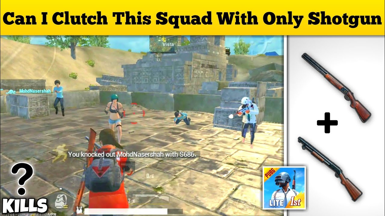 CAN I CLUTCH THIS SQUAD WITH ONLY SHOTGUNS | 😤SOLO VS SQUAD FULL EPIC GAMEPLAY | PUBG MOBILE LITE