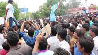 राजस्थान यूनिवर्सिटी छात्र संघ चुनाव में शक्ित प्रदर्शन