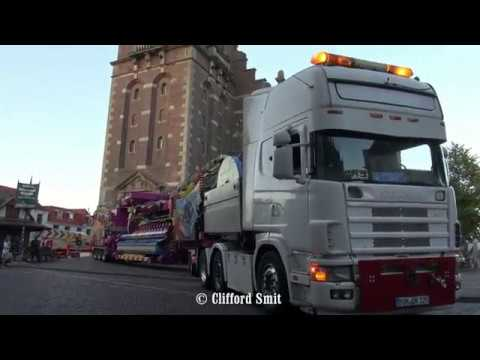 Kermis Hoorn 2018 Transport en opbouw Deel 4