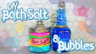 🧼 DIY BATH SALT & BUBBLES: Easy Handmade Presents 🧼