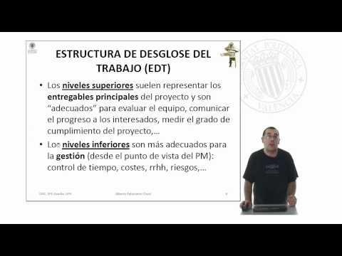 Estructura de desglose del trabajo (EDT) | 13/36 | UPV