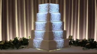 Projection Mapped Wedding Cake - Luma Bakery