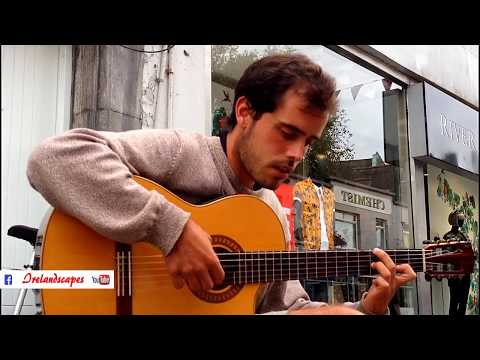 Galway City Spanish Street Guitarist Campos (3) - Ireland Music Landscape Scenery