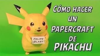 M Como Hacer Un Pikachu De Papel Pokemon Papercraft 4