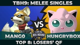 Mang0 vs Hungrybox - Top 8 Winners' Semifinals: Melee Singles - TBH9 | Marth vs Fox