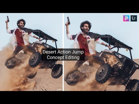 Picsart Desert Action Jump Creative Editing | Adobe Photoshop Lightroom Cc