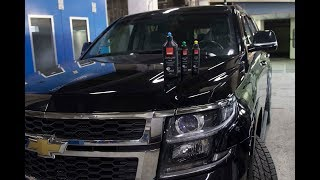 Chevrolet Tahoe 4 поколения. Полировка глубоких царапин.