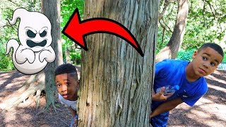 Ghost Stories in the Forest! Kids Pretend Play