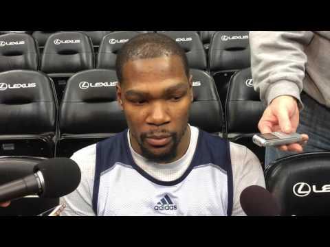 Durant: Shootaround in Minnesota - Jan. 12, 2016