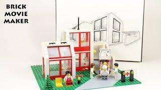 Lego 6380 Emergency Treatment Center / Hospital / Krankenhaus speed Build + sketch