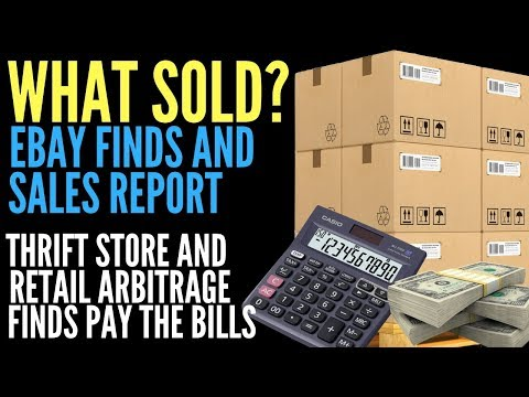 eBay Sales From Sourcing Goodwill, Thrift Stores, Garages Sales, and Selling Clearance