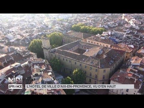 VUE D'EN HAUT: L'HÔTEL DE VILLE D'AIX EN PROVENCE