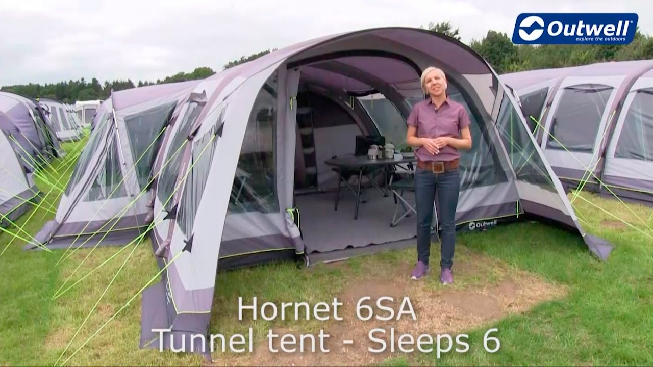& Outwell Hornet 6SA Tent | Innovative Family Camping - YouTube