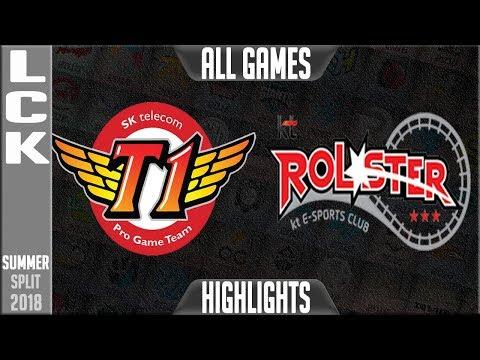 SKT vs KT Highlights ALL GAMES | LCK Summer 2018 Week 3 Day 1 | SK Telecom T1 vs KT Rolster