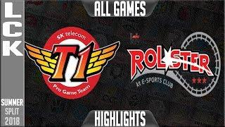 Video SKT vs KT Highlights ALL GAMES   LCK Summer 2018 Week 3 Day 1   SK Telecom T1 vs KT Rolster download MP3, 3GP, MP4, WEBM, AVI, FLV Agustus 2018