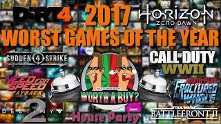 Worst Games of the year 2017 - Worthabuy
