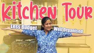 My Kitchen Tour| Well Organised Makeover in Less Budget| Vlog| Sushma Kiron