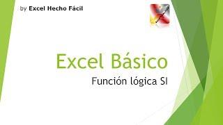 Función SI de Excel