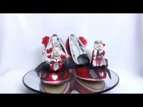 The King & Queen of Hearts Alice in Wonderland Heels Shoes