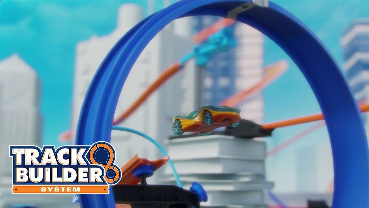 hot wheels track builder power booster kit tv commercial. Black Bedroom Furniture Sets. Home Design Ideas