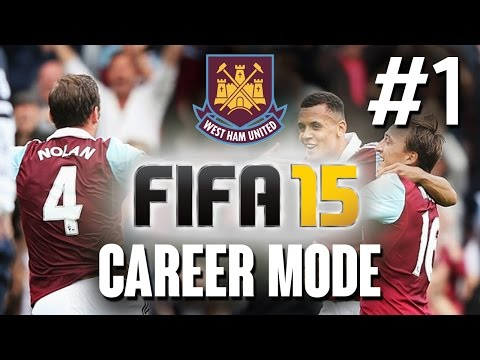 Fifa 15 CAREER MODE Gameplay Walkthrough Part 1 - WEST HAM - Let's Play Playthrough