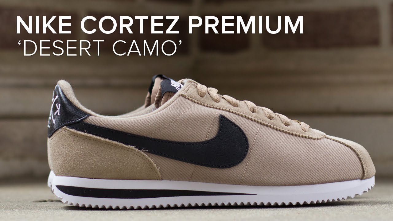 new product 915c1 9cc38 Nike Cortez Premium  Desert Camo  Pack Quick On Feet Look - YouTube
