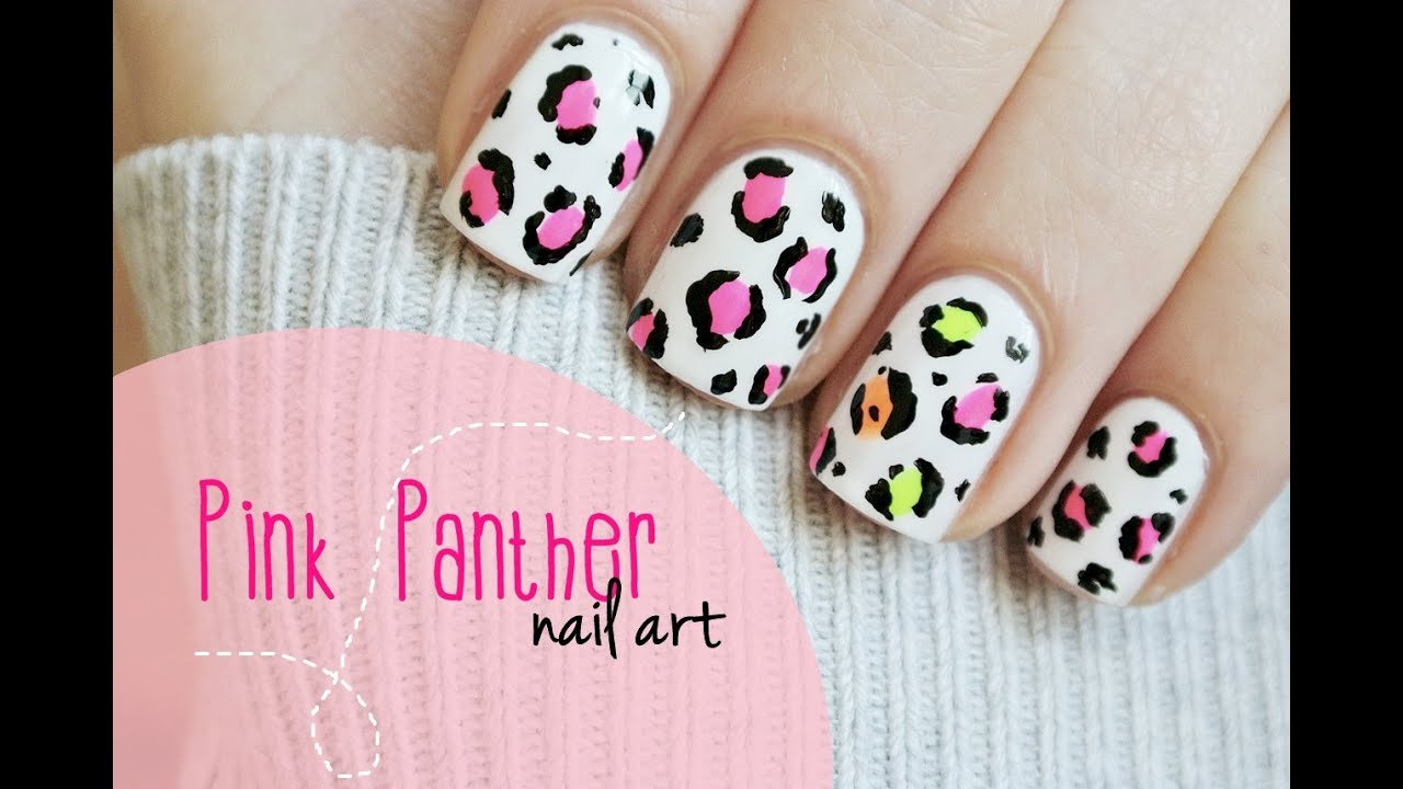 - Pink Panther Manicure! Leopart Print Nail Art Tutorial - YouTube