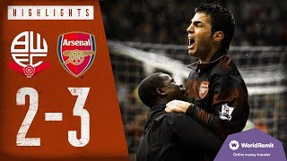 What A Comeback! | Bolton 2-3 Arsenal | Highlights | 2008