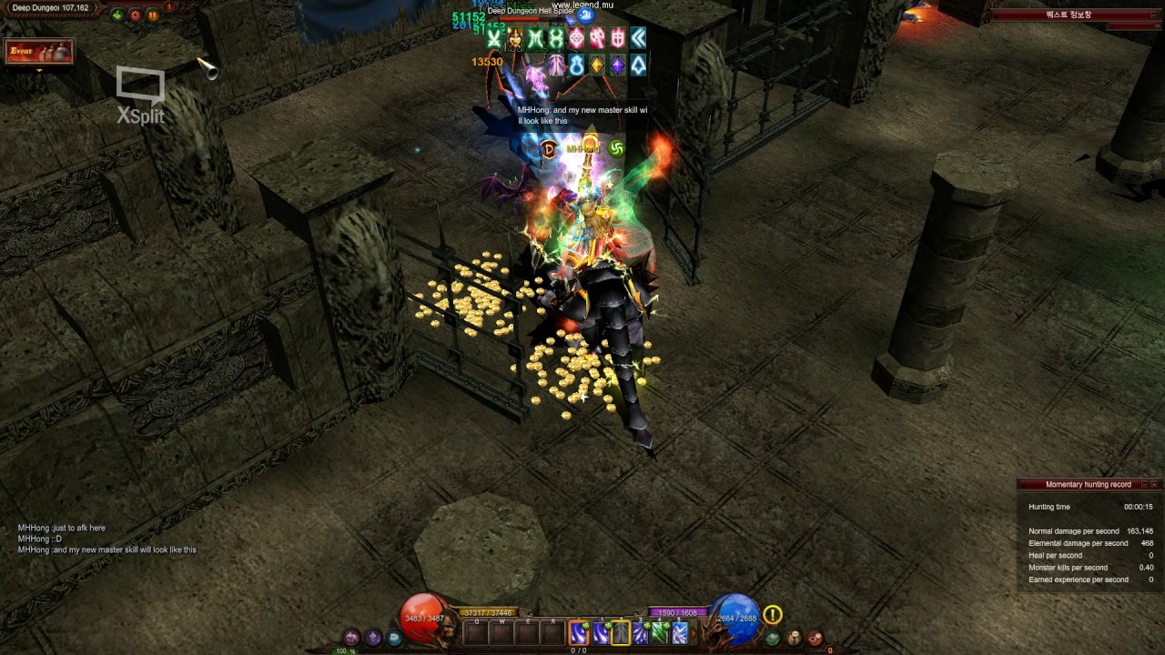 Download [Mu online season 12] Deep Dungeon 1~3 / Agi Elf Focus shot build (Stun build in middle half)